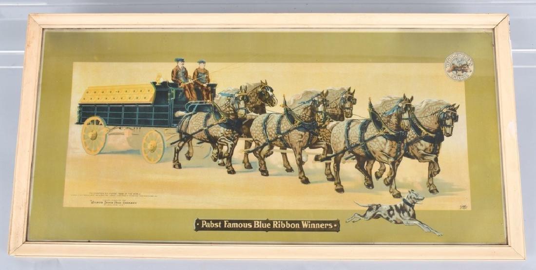 1905 PABST BREWERY HORSE TEAM PRINT