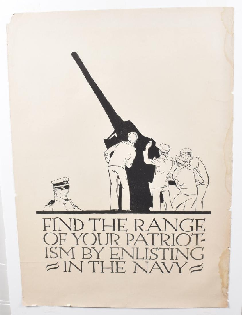 WW1 NAVY RANGE OF PATRIOTISM POSTER