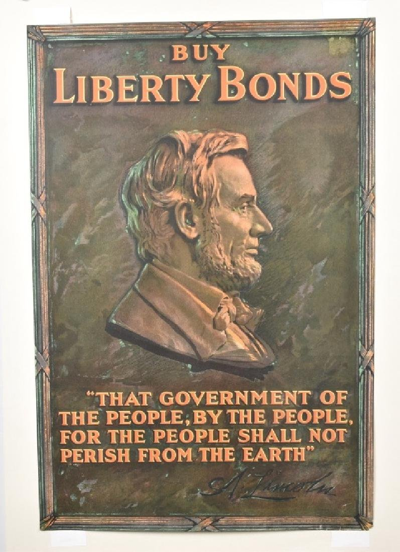 WW1 ABRAHAM LINCOLN BUY LIBERTY BONDS POSTER