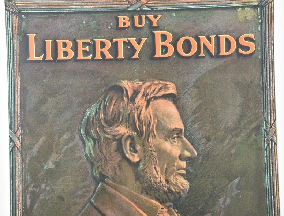 WW1 ABRAHAM LINCOLN BUY LIBERTY BONDS POSTER - 2