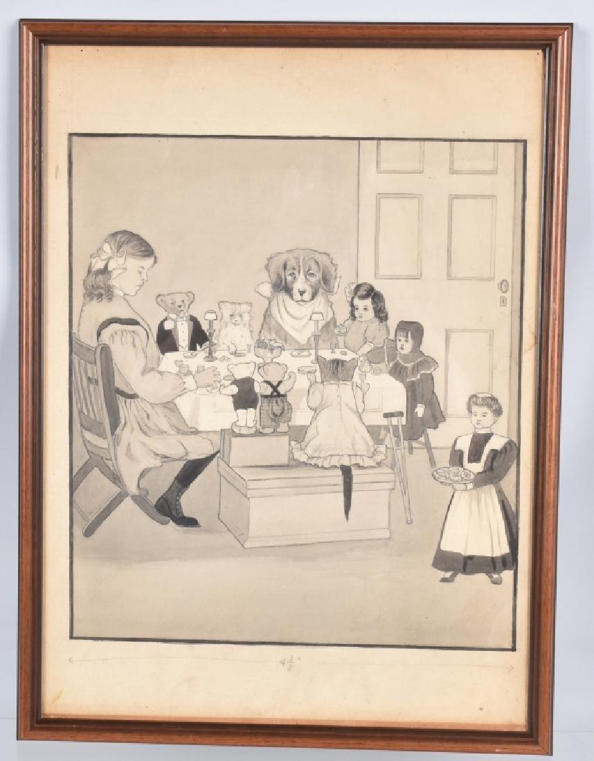 1907 ARTIST ILLUSTRATION FOR CINNAMON BEAR BOOK