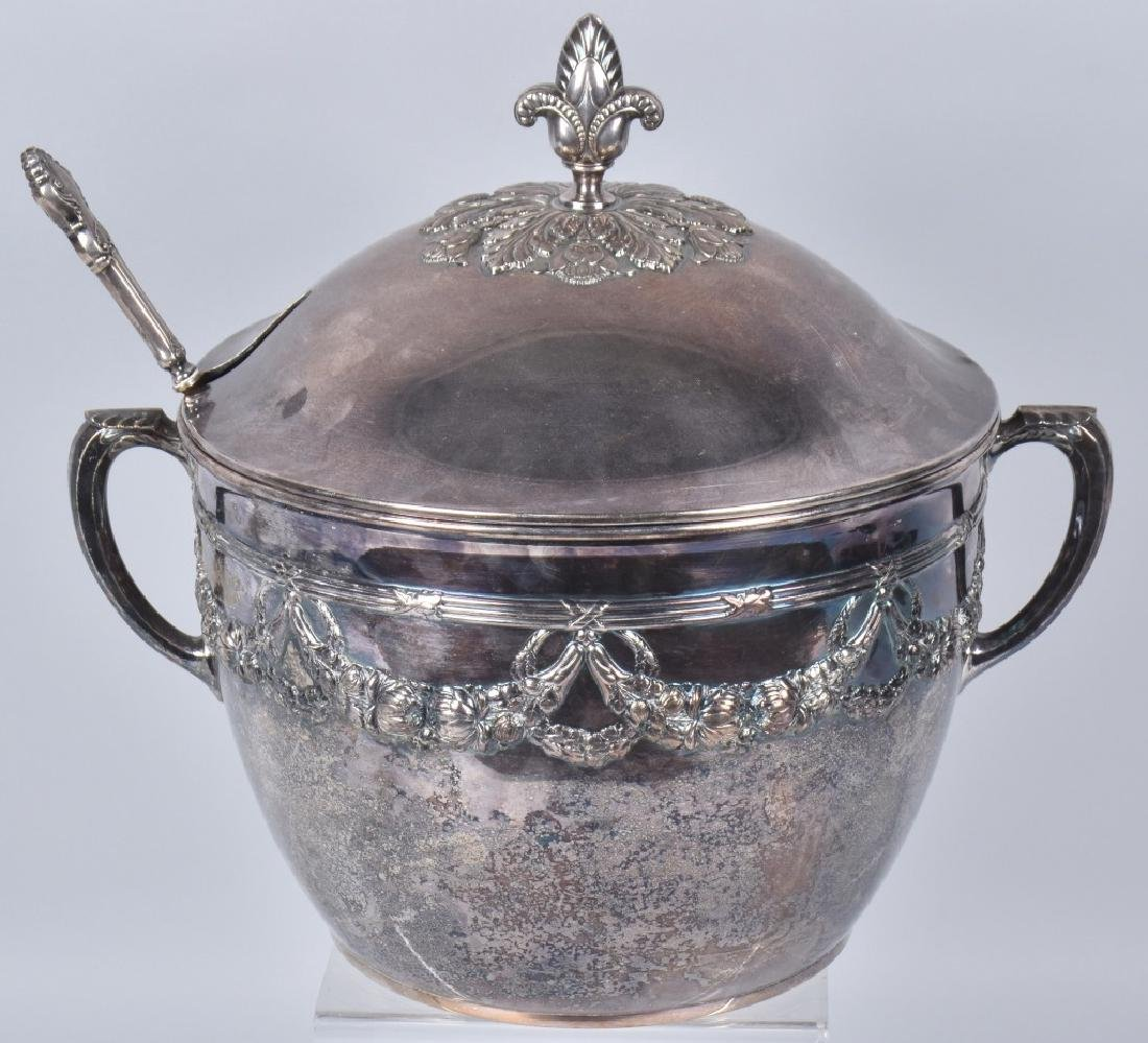 PERFECT SILVER PUNCH BOWL w/ LID
