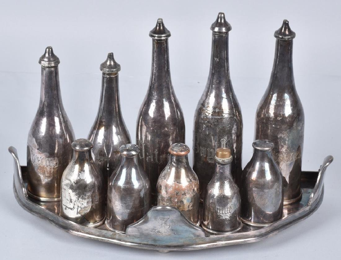 EARLY SILVER PLATE PERSONAL HYGIENE SET