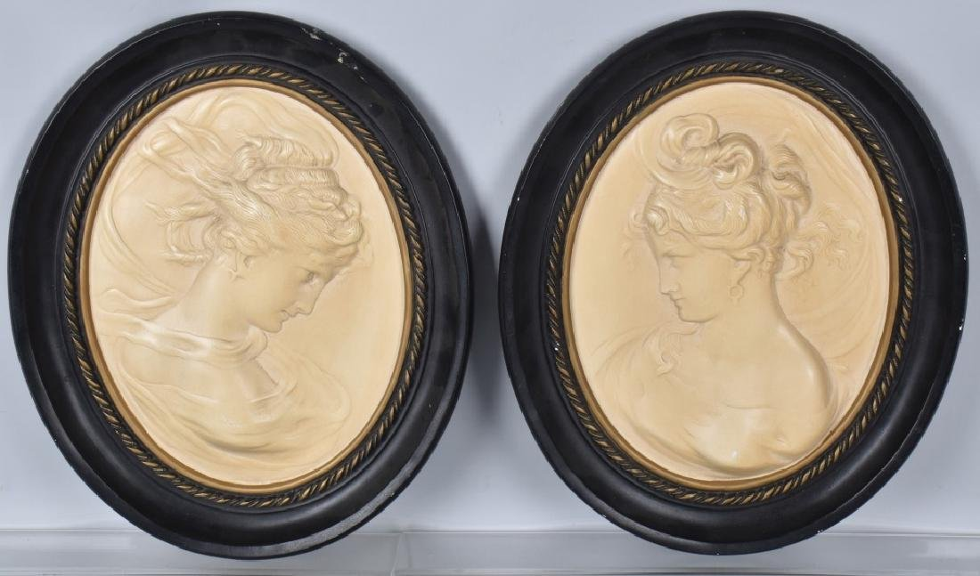 2-ALEXANDER BACKER CO. CHALK CAMEO PICTURES
