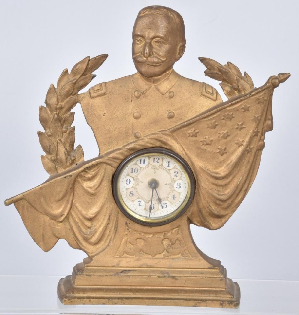 ADMIRAL GEORGE DEWEY FIGURAL CLOCK, 1898-1900
