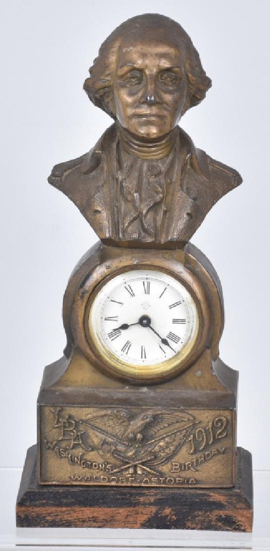 1912 WASHINGTON'S BIRTHDAY WALDORF-ASTORIA CLOCK