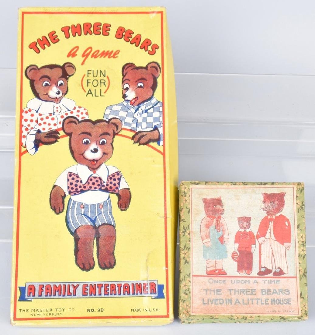 THE THREE BEARS MARBLE GAME & BISQUE FIGURES, BOX