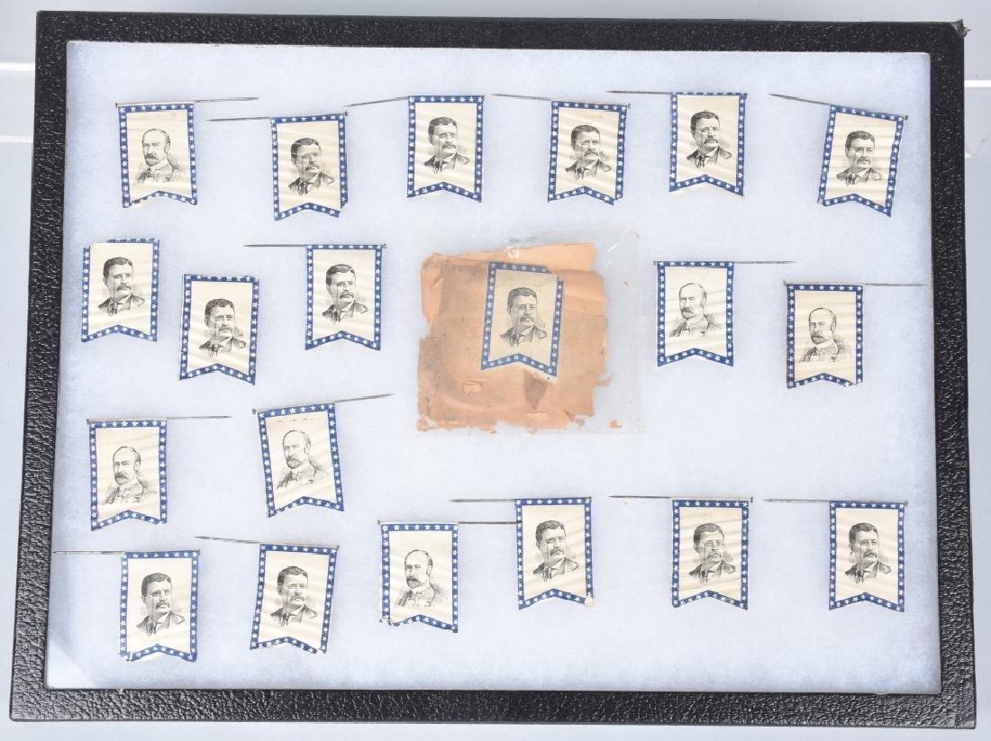 19-ROOSEVELT / FAIRBANKS FLAG PINS & PACKAGE