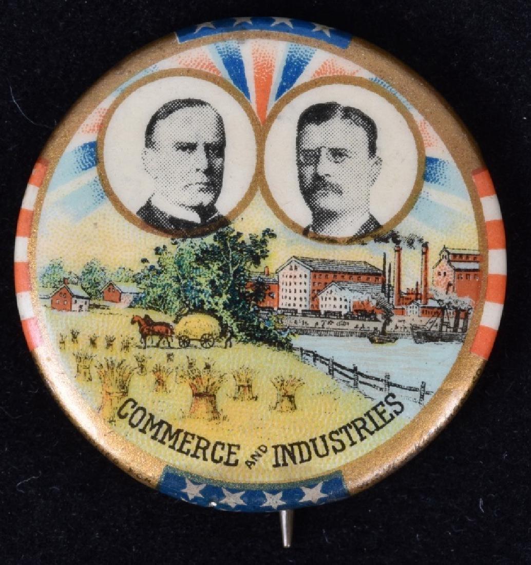 1900 McKINLEY / ROOSEVELT JUGATE PINBACK BUTTON