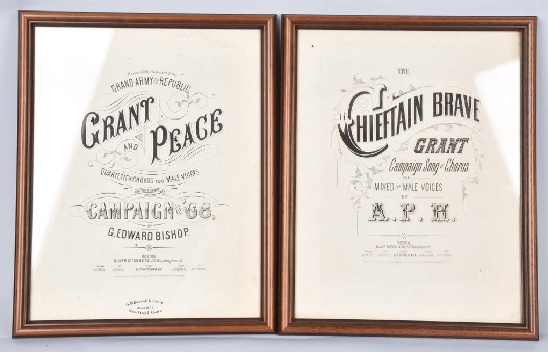2-1868 ULYSSES GRANT FRAMED SHEET MUSIC
