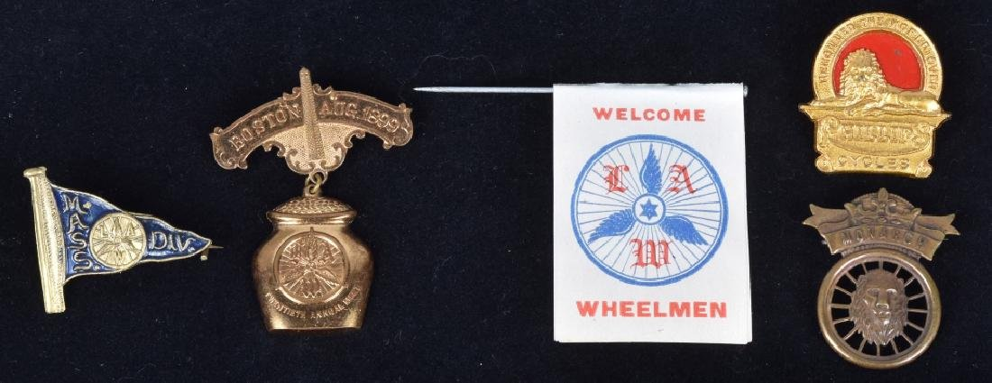 5-EARLY BICYCLE PINS