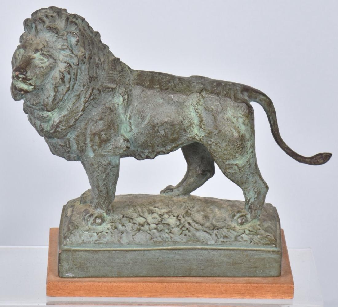 SPELTIER LION FIGURE Marked AMR