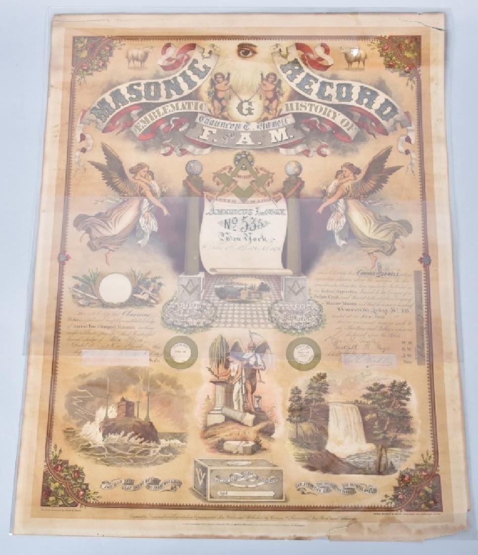 1875 MASONS INITIATION CERTIFICATE