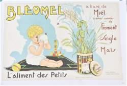 1933 BLEOMEL BABY FOOD FRENCH ADVERTISING
