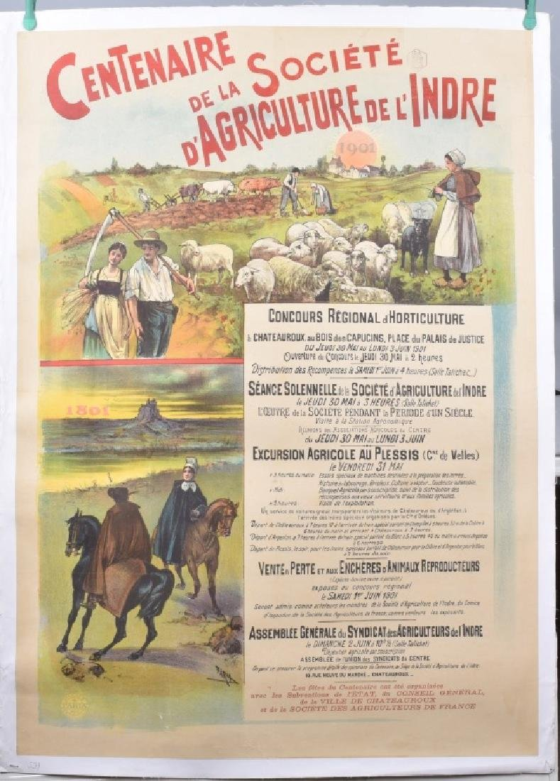 1901 FRENCH AGRICULTRAL SOCIETY CONTEST POSTER