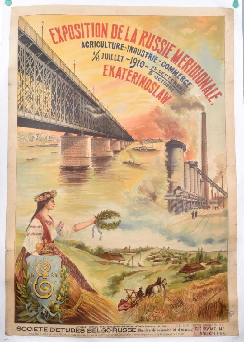 1910 RUSSIAN EXPOSITION POSTER