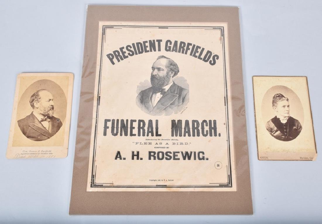 PRESIDENT GARFIELD CABINET PHOTOS, & SHEET MUSIC