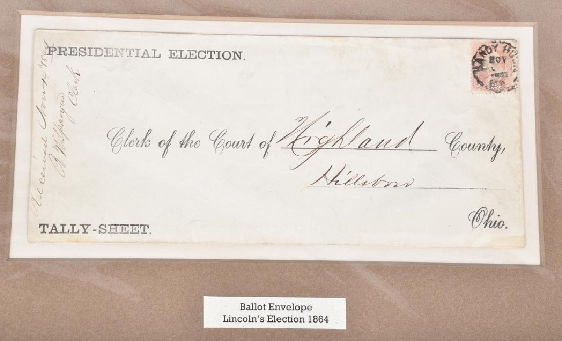 1864 BALLOT ENVELOPE, LINCOLN'S ELECTION - 2