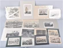 MILITARY ENGRAVING GROUPING CIVIL WAR  MORE