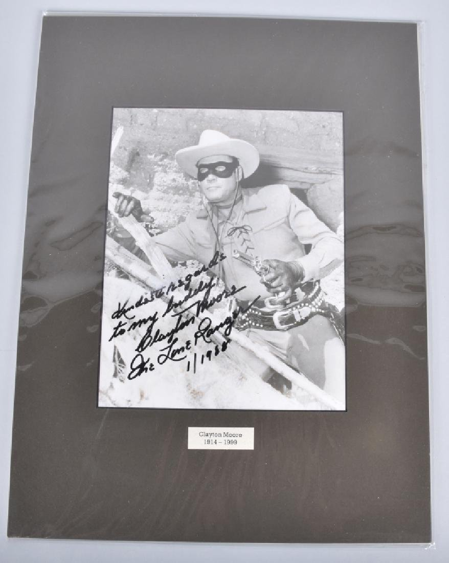 CLAYTON MOORE, LONE RANGER AUTOGRAPHED PHOTO