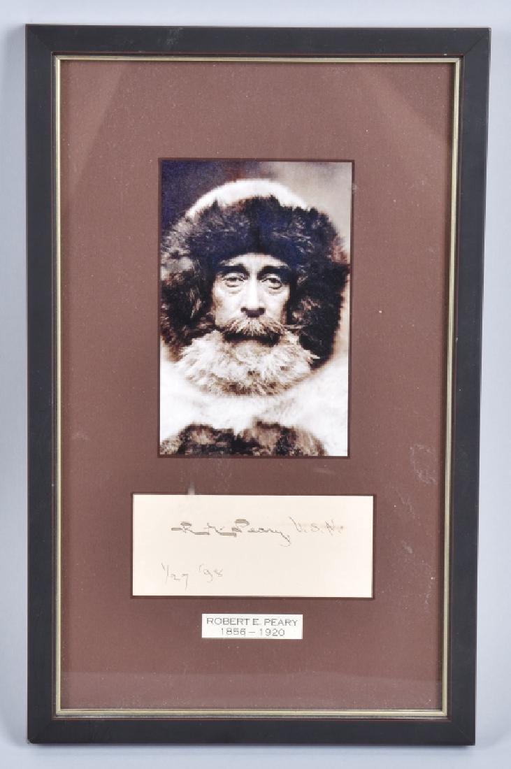 REAR ADMIRAL ROBERT E. PERRY AUTOGRAPH
