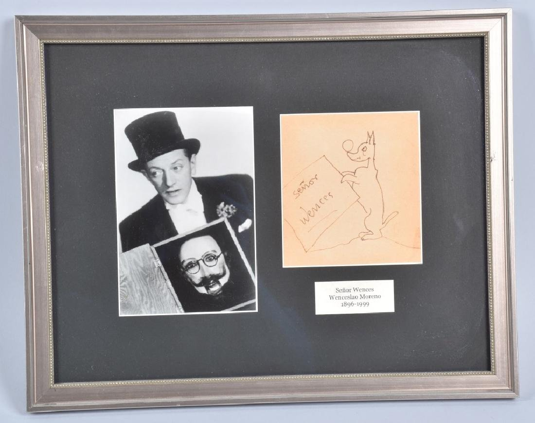 SENOR WENCES VENTILOQUIST SIGNED DRAWING