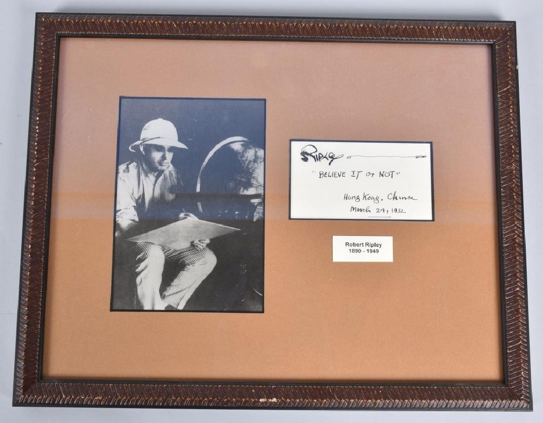 "ROBERT RIPLEY ""BELIVE IT OR NOT"" AUTOGRAPH"