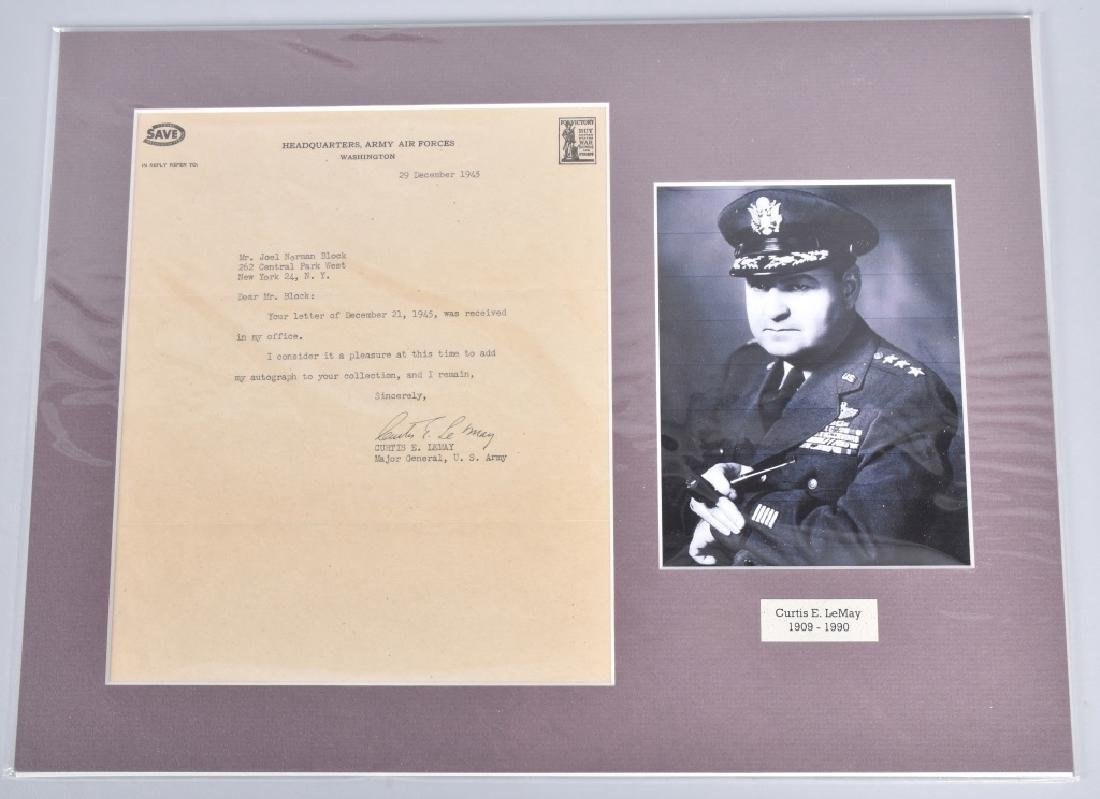 WW2 GENERAL CURTIS E. LeMAY, SIGNED LETTER