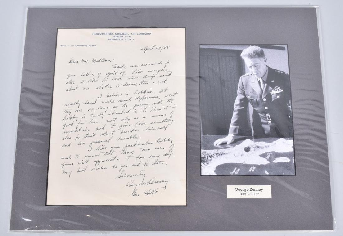 WW2 GENERAL GEORGE KENNEY, SIGNED LETTER
