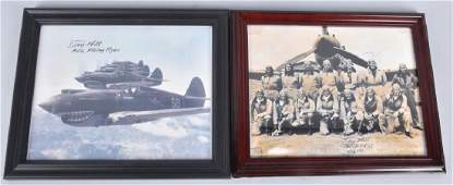 2WW2 DAVID LEE TEX HILL FIGHTER ACE AUTOGRAPHS