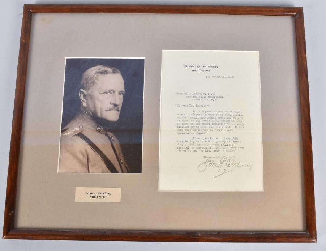 GENERAL JOHN PERSHING AUTOGRAPHED LETTER