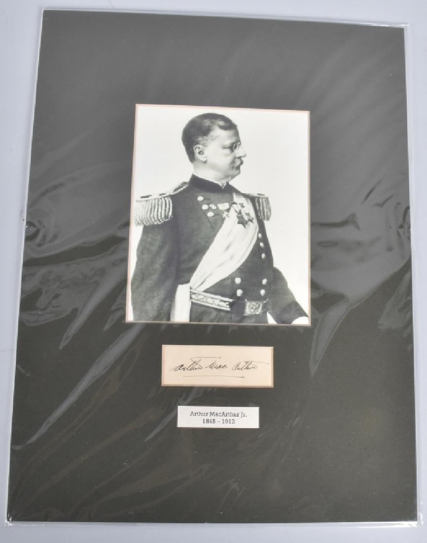 GENERAL ARTHUR MacARTHUR JR. AUTOGRAPH