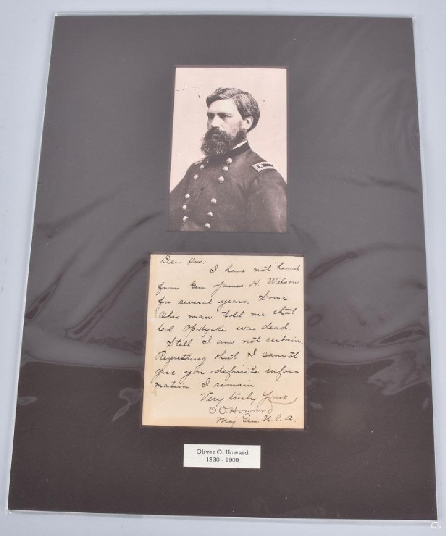 CIVIL WAR GENERAL O. O. HOWARD AUTOGRAPH