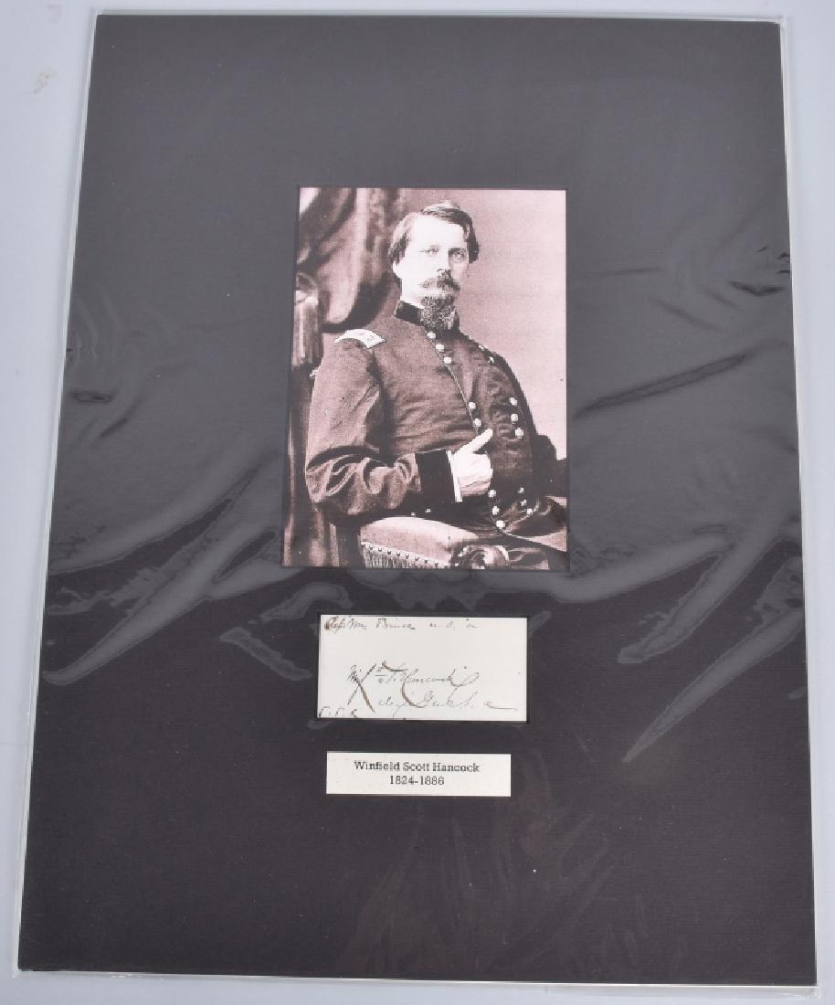 CIVIL WAR GENERAL W.S. HANCOCK AUTOGRAPH