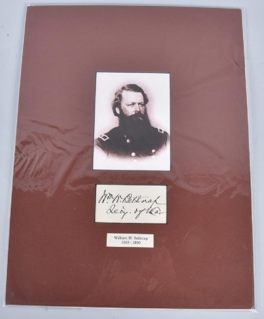 CIVIL WAR GENERAL WILLIAM BELKNAP AUTOGRAPH