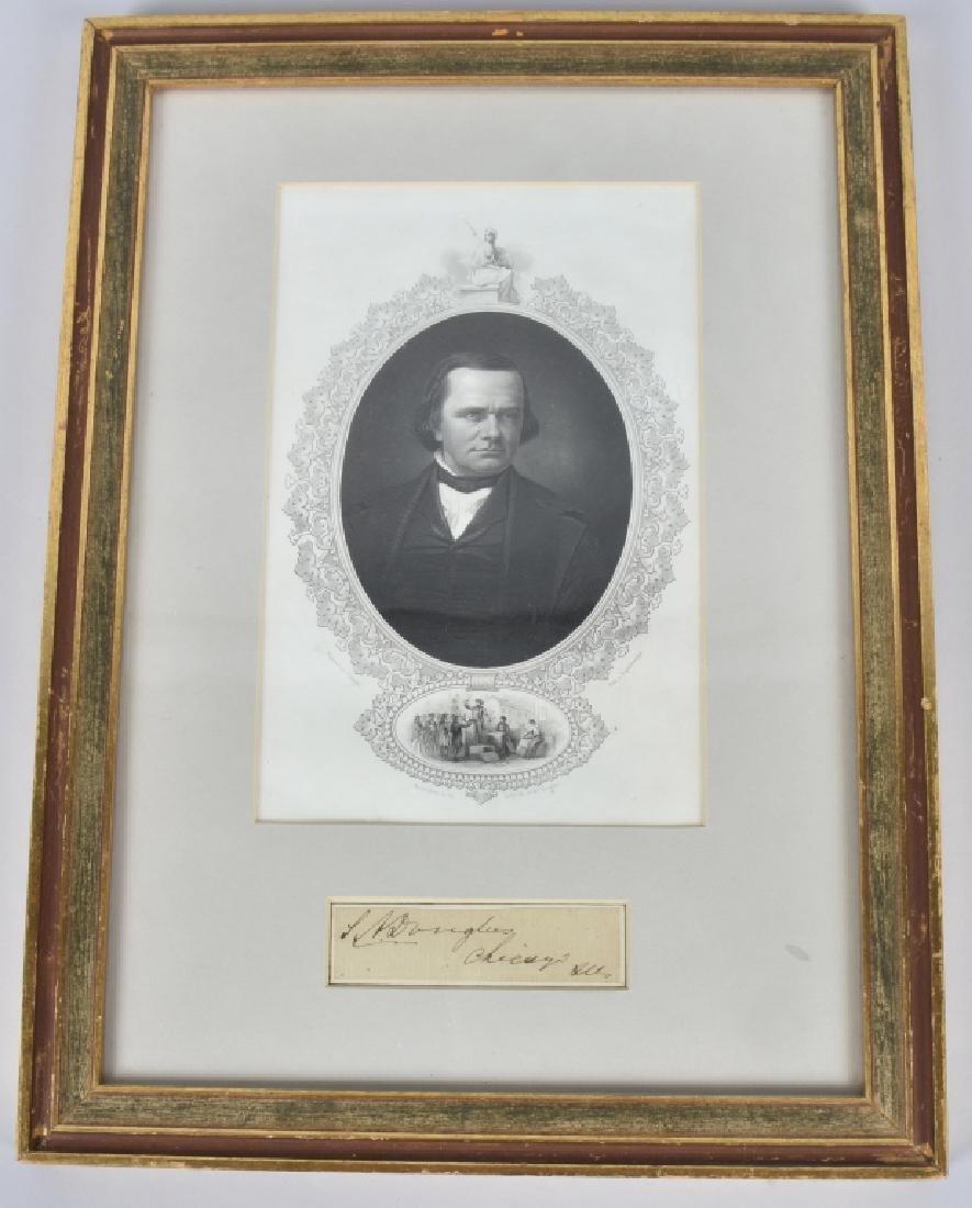 STEPHEN A. DOUGLAS SENATOR AUTOGRAPH