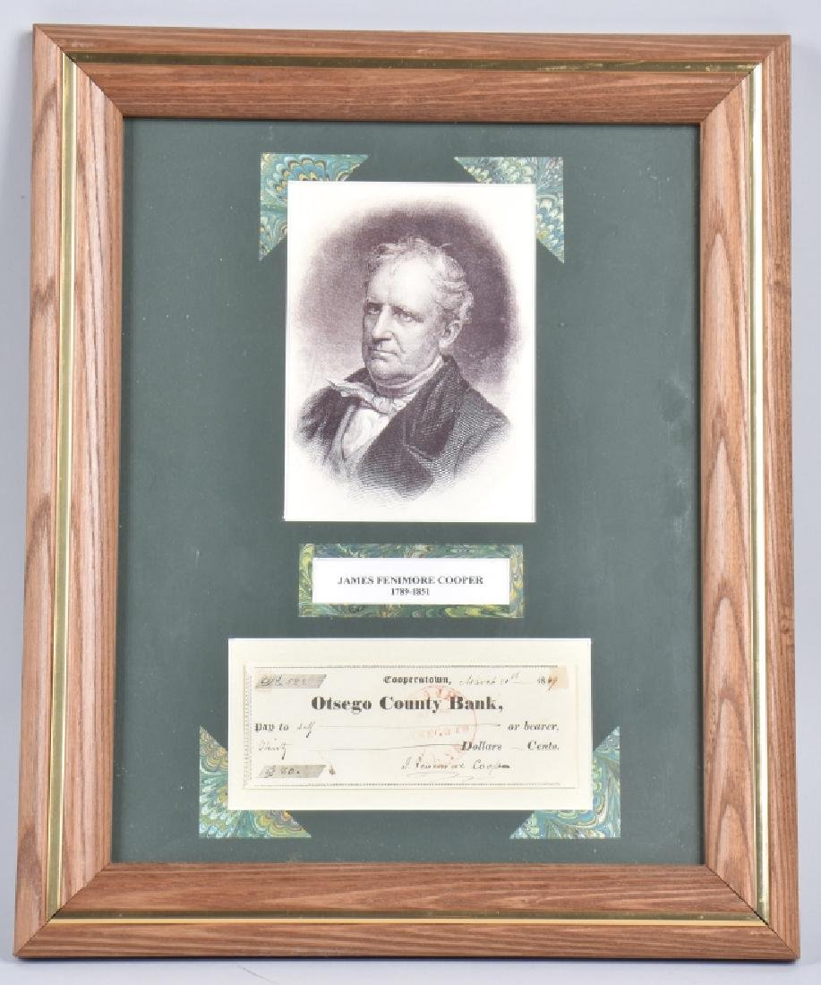 JAMES FENIMORE COOPER, AUTHOR, AUTOGRAPH