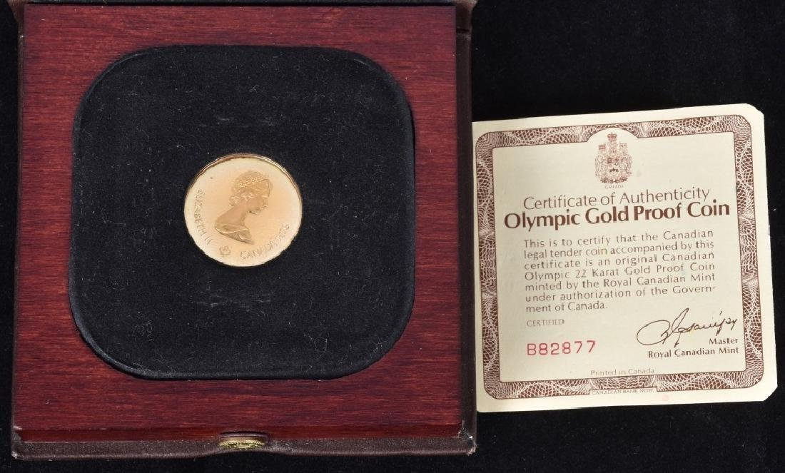 1976 CANADA $100 22KT OLYMPIC GOLD COIN