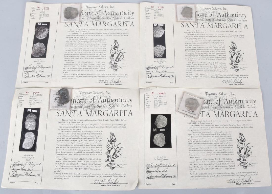 SANTA MARGARITA SHIPWRECK SILVER 8 REALES COINS