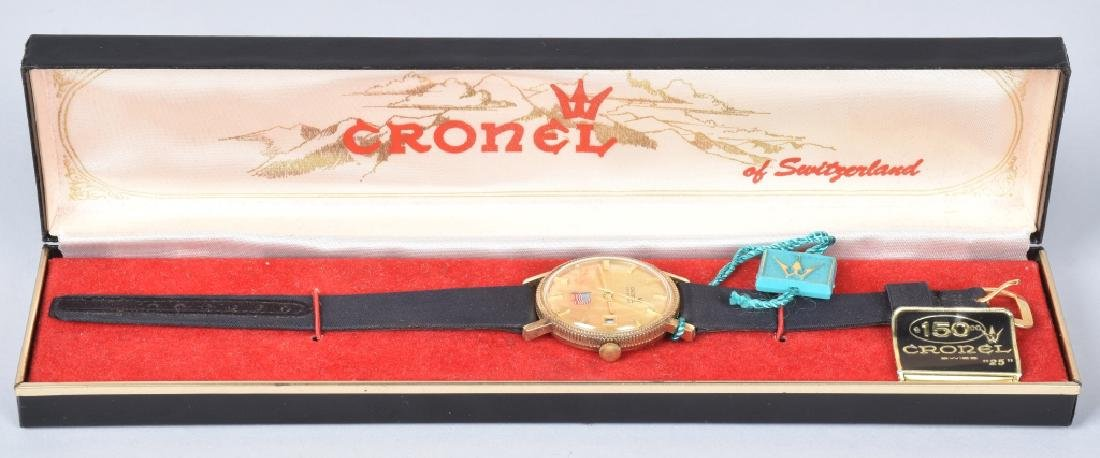 "Vintage CRONEL ""25"" MENS WATCH MIB"