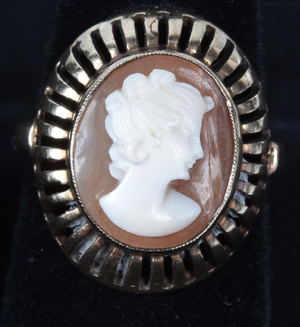 ANTIQUE 10kt GOLD CAMEO RING