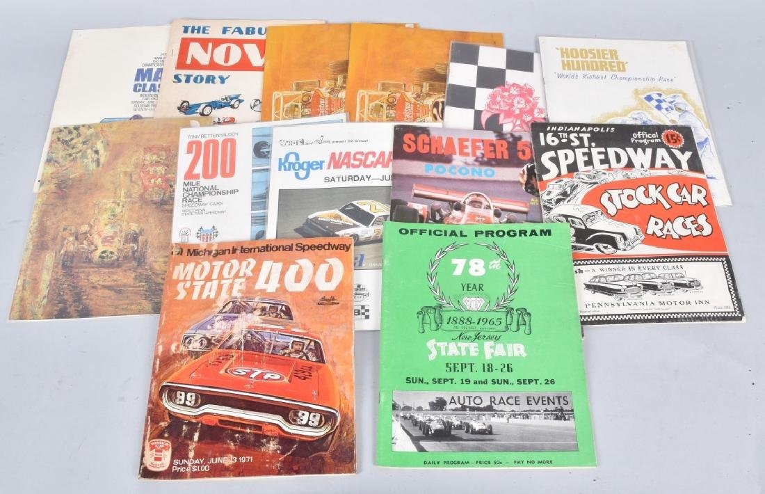 13- 1960s-80s CAR RACING PROGRAMS
