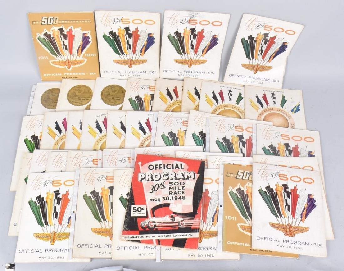 41- 40s-50s-60s INDIANAPOLIS 500 PROGRAMS
