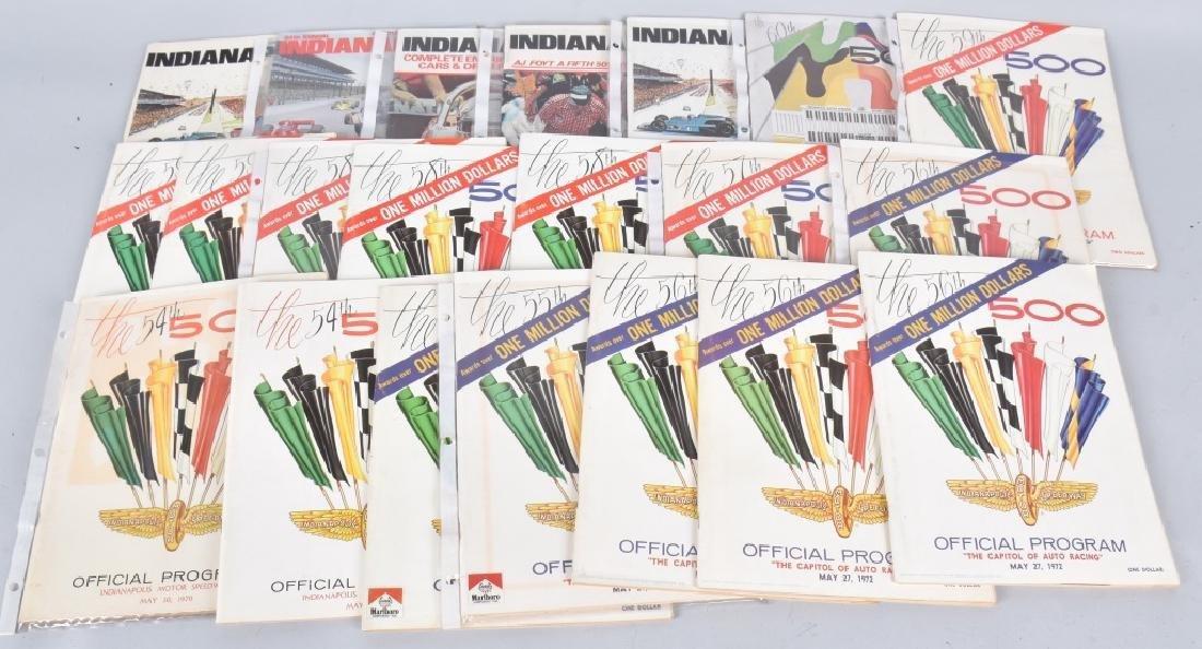 21- 1970-1980 INDIANAPOLIS 500 PROGRAMS