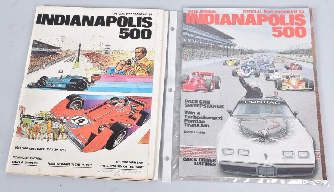 21- 1970-1980 INDIANAPOLIS 500 PROGRAMS - 5