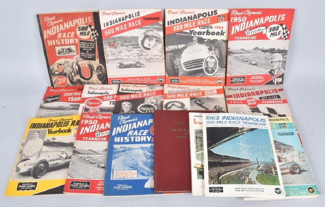16- 1940s-70s FLOYD CLYMERS INDY 500 YEARBOOKS