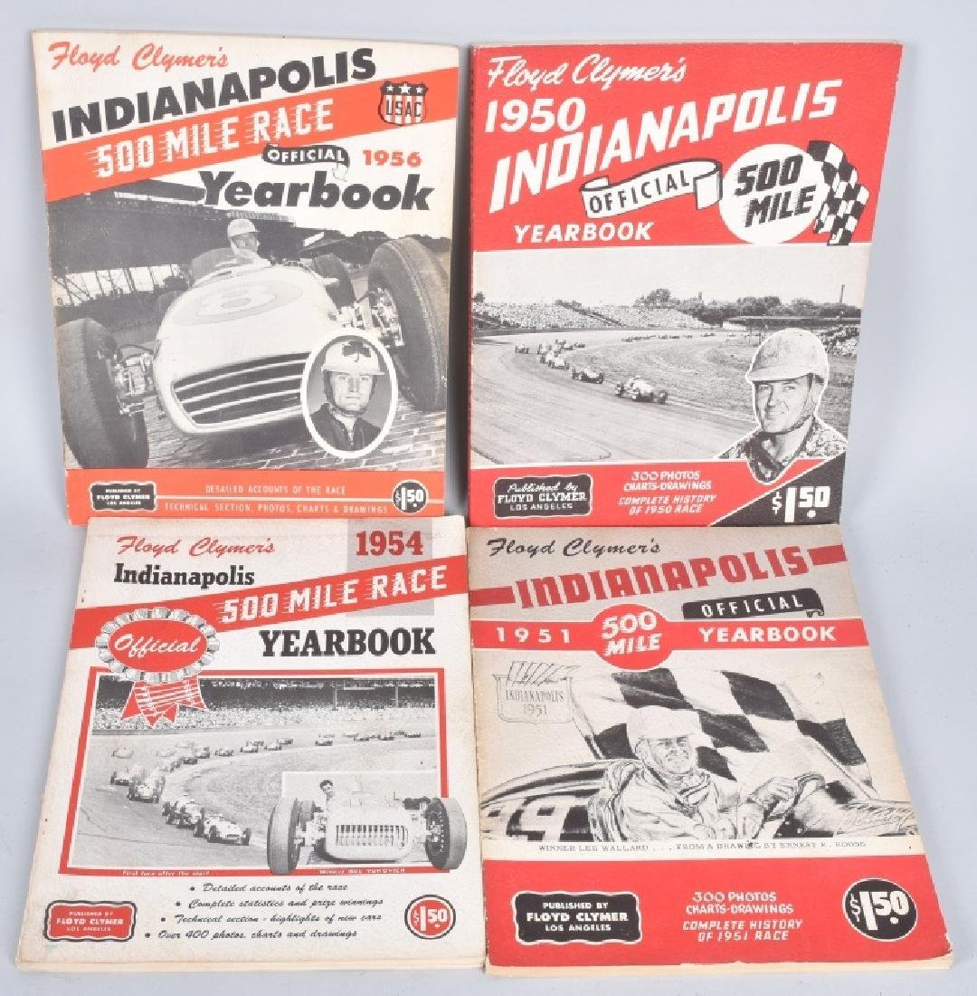16- 1940s-70s FLOYD CLYMERS INDY 500 YEARBOOKS - 2