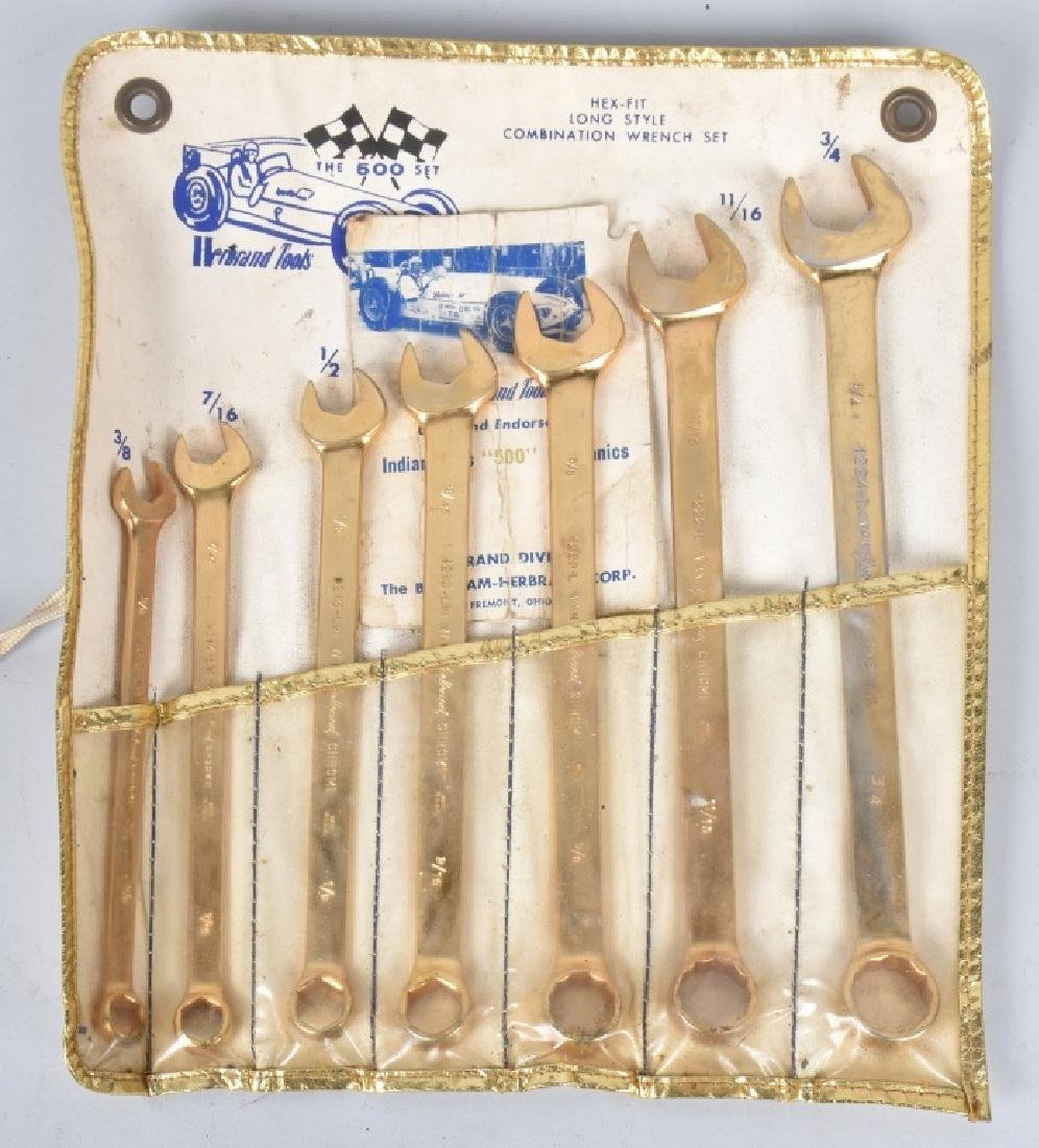 HERBRAND TOOLS INDY 500 GOLD WRENCH SET