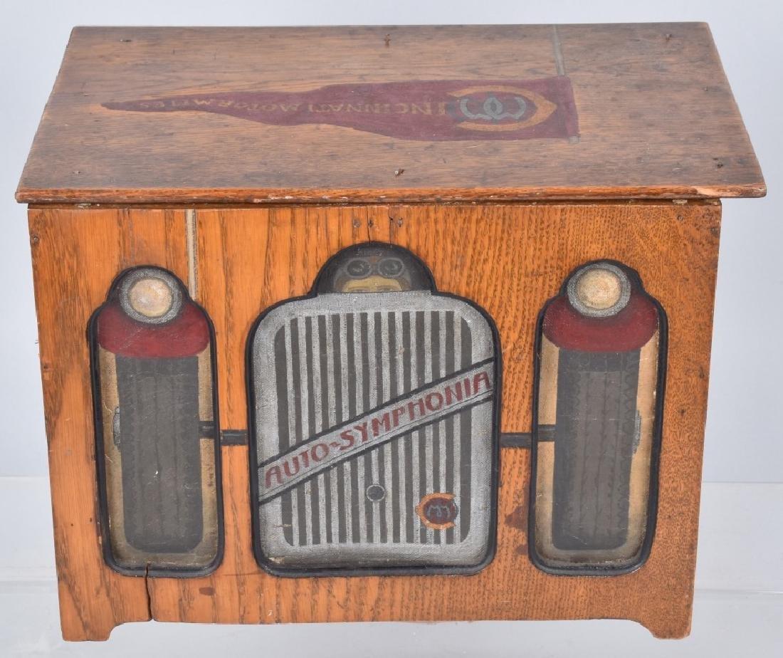 CINCINNATI CAR CLUB COMB STYLE MUSIC BOX
