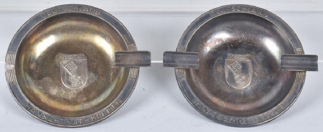PAIR OF ASH TRAYS FROM THE SS BREMEN SHIP